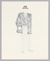View Costume design drawing by Judy Dearing for Bobo in A Raisin in the Sun digital asset number 1