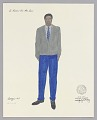 View Costume design drawing by Judy Dearing for Joseph Asagai in A Raisin in the Sun digital asset number 0