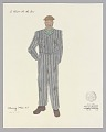 View Costume drawing by Judy Dearing for the Moving Men in A Raisin in the Sun digital asset number 0