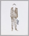 View Costume design drawing by Judy Dearing for Karl Lindner in A Raisin in the Sun digital asset number 1