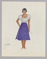 View Costume design drawing by Judy Dearing for Bess in Porgy and Bess digital asset number 0