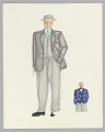 View Costume design drawing by Judy Dearing for an unidentified production digital asset number 0