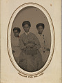 View Tintype in a paper case of three unidentified young women seated digital asset number 6