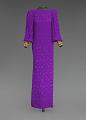 View Purple dress designed by Oscar de la Renta and worn by Whitney Houston digital asset number 0