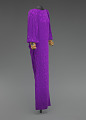 View Purple dress designed by Oscar de la Renta and worn by Whitney Houston digital asset number 6