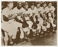 View Photograph of Jackie Robinson and Roy Campanella with Brooklyn Dodger teammates digital asset number 0
