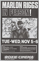 View Poster advertising Marlon Riggs In Person! digital asset number 2