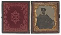 View Ambrotype of Ann Hurst Copeland in an embossed leather case digital asset number 1