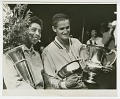 View Photograph of Althea Gibson with the US Nationals trophy and Mal Anderson digital asset number 0