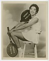 View Photograph of Althea Gibson holding two tennis rackets digital asset number 0