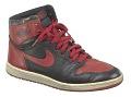 View Pair of red and black Air Jordan I high top sneakers made by Nike digital asset number 3
