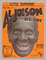 """View <I>Little Sunshine [Al Jolson in """"Big Boy""""]</I> digital asset number 0"""
