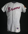 View Jersey for the Atlanta Braves worn and autographed by Hank Aaron digital asset number 0