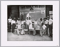 View Photographic print of checkers players in front of Babe's Place digital asset number 0