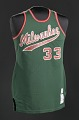 View Jersey for the Milwaukee Bucks worn and signed by Kareem Abdul-Jabar digital asset number 0