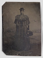 View Tintype of a woman carrying a medical bag digital asset number 0