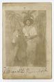 View Photographic postcard portrait of Margarette Davenport in costume digital asset number 0