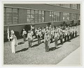 """View Photograph of the St. Augustine High School marching band, the """"Marching 100"""" digital asset number 0"""