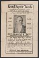 View Advertisement card for gospel singer Rev. Isaac C. Reddie digital asset number 0