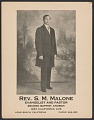 View Advertisement card for Rev. S. M. Malone digital asset number 0