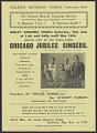 View Flyer for performances of the Chicago Jublilee Singers in Burnley, England digital asset number 0