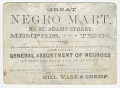 "View Advertisement card for the ""Great Negro Mart"" in Memphis, Tennessee digital asset number 0"