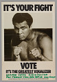 View Poster for voting rights featuring Muhammad Ali digital asset number 0