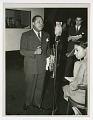 View Photograph of Louis Armstrong recording at the CBS Studio in New York digital asset number 0