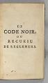 View <I>Le Code Noir</I> digital asset number 3