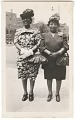 View Photographic print of two women wearing dresses and hats digital asset number 0