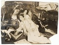 View Photographic print of 4 women sitting in front of a sofa digital asset number 0