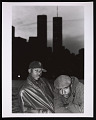 View Photograph of Mista Lawnge and Dres of Black Sheep in front of WTC towers digital asset number 0
