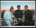 View Photograph of Run-D.M.C. on the rooftop of Russell Simmons's apartment digital asset number 0