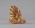 View Red, yellow, blue, and white Madras headdress digital asset number 9