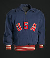 View Warm-up sweat suit for the 1952 Helsinki XV Olympics worn by Ted Corbitt digital asset number 2