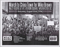 View Fliers for a march in memory of Mike Brown in Washington, DC digital asset number 2