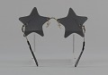 View Bootsy Collins style star-shaped mirrored lens sunglasses digital asset number 3