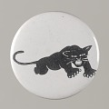 View Pinback button with a black panther on it, from the MMM 20th Anniversary digital asset number 0