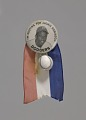 View Pinback button of Jackie Robinson with baseball charm and ribbon digital asset number 0