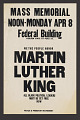 View Poster for a mass Memorial for Martin Luther King digital asset number 0