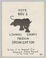 View Pamphlet for Lowndes County Freedom Organization digital asset number 0