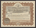 View Stock certificate for Birth of a Race Photoplay Corporation digital asset number 0
