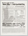 View Flier advertising rally to make May 1st Anti-Apartheid Day digital asset number 0