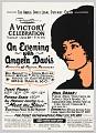 View Flyer Advertising an Evening with Angela Davis digital asset number 0