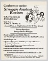 View Flier advertising a Conference on the Struggle Against Racism following Bakke digital asset number 0