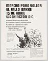 View Spanish language flier for a March on Washington to overturn the Bakke decision digital asset number 0