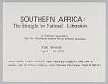View Flyer for Southern Africa: The Struggle for National Liberation conference digital asset number 0