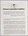 View Pamphlet about the Patrice Lumumba Coalition digital asset number 1