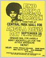 View Flyer Promoting a Rally for Angela Davis Day digital asset number 0