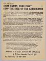 View Flyer advertising a protest against the sale of the Krugerrand digital asset number 0